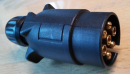 Stecker 7-polig, Kunstsoff, schwarz