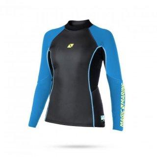 Magic Marine Neopren Top Ultimate Vest L/S 3mm Flatlock Women Blue