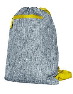 Gymsac Miami grey Melange/yellow