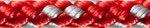 8-Plaited Dinghy 4 mm rot/silber