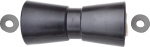 Gummi-Kielrolle 200x80mm schwarz mit Plastikscheiben