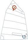 JSail 2.0 - Opti-Segel, Crosscut mit Fenster, incl....