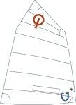 JSail 2.0 - Opti-Segel, Crosscut mit Fenster, incl. eingekl. Nummern und DODV Zulassung