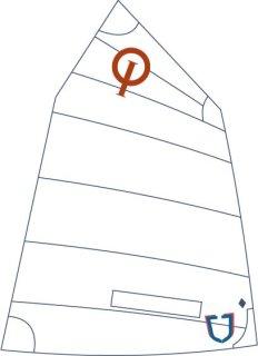 JSail Blue 3 - Opti-Segel, Crosscut mit Fenster, incl. eingekl. Nummern und DODV Zulassung