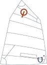 JSail Classic - Opti-Segel, Crosscut, eingekl. Nummern...