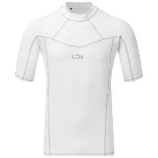 Shirt Nylon kurzer Arm Pro Rash Vest Men´s white Gill