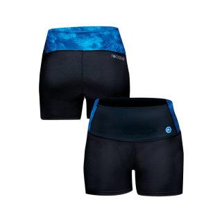 Bikini-Hose Nylon/Spandex Womens High Waist Sports Shorts Rooster