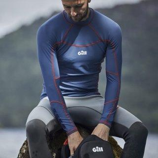 Shirt Nylon Langer Arm Pro Rash Vest Men´s Gill